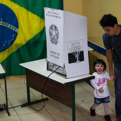 The first round of elections on October 5, 2014 in Sao Bernardo do Campo, Brazil.