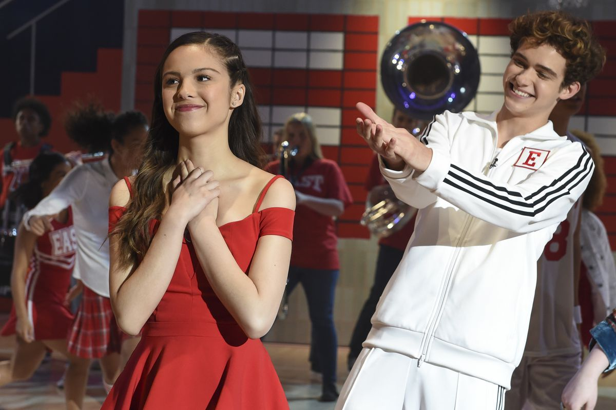 "Olivia Rodrigo and Joshua Bassett in ""High School Musical: The Musical: The Series."""