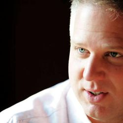 In this 2007 file photo, Glenn Beck talks with the Deseret News.