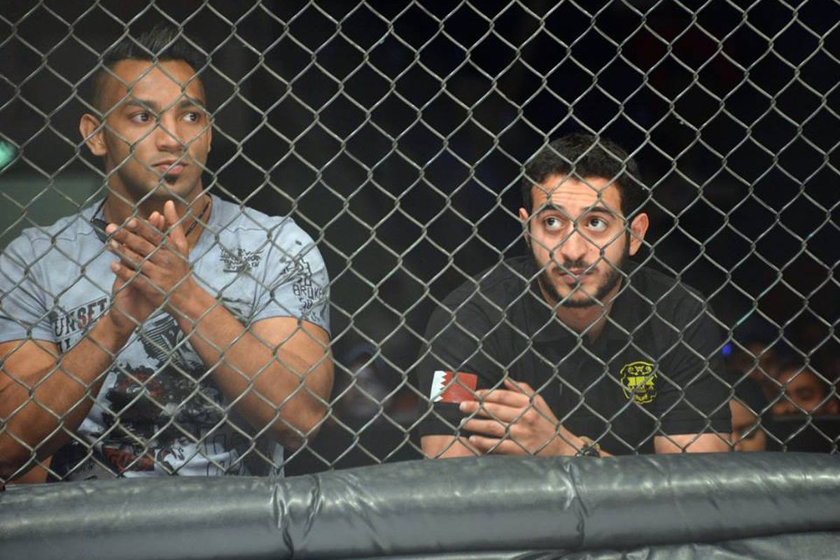 KHK MMA founder Mohammed Shahid (left) and Prince Khaled Bin Hamad Al Khalifa (right)