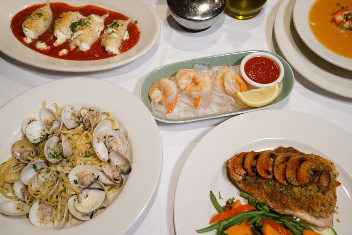 The Feast of the Seven Fishes, a special Christmas Eve menu, at Italian Village.