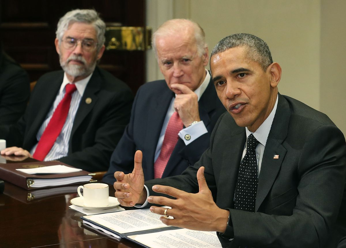 Obama And Biden Meets With National Security And Cybersecurity Advisors