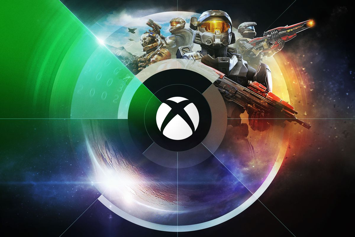 artwork for Xbox and Bethesda's E3 2021 showcase, featuring Master Chief from Halo