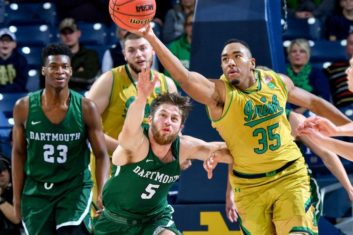 NCAA Basketball: Dartmouth at Notre Dame