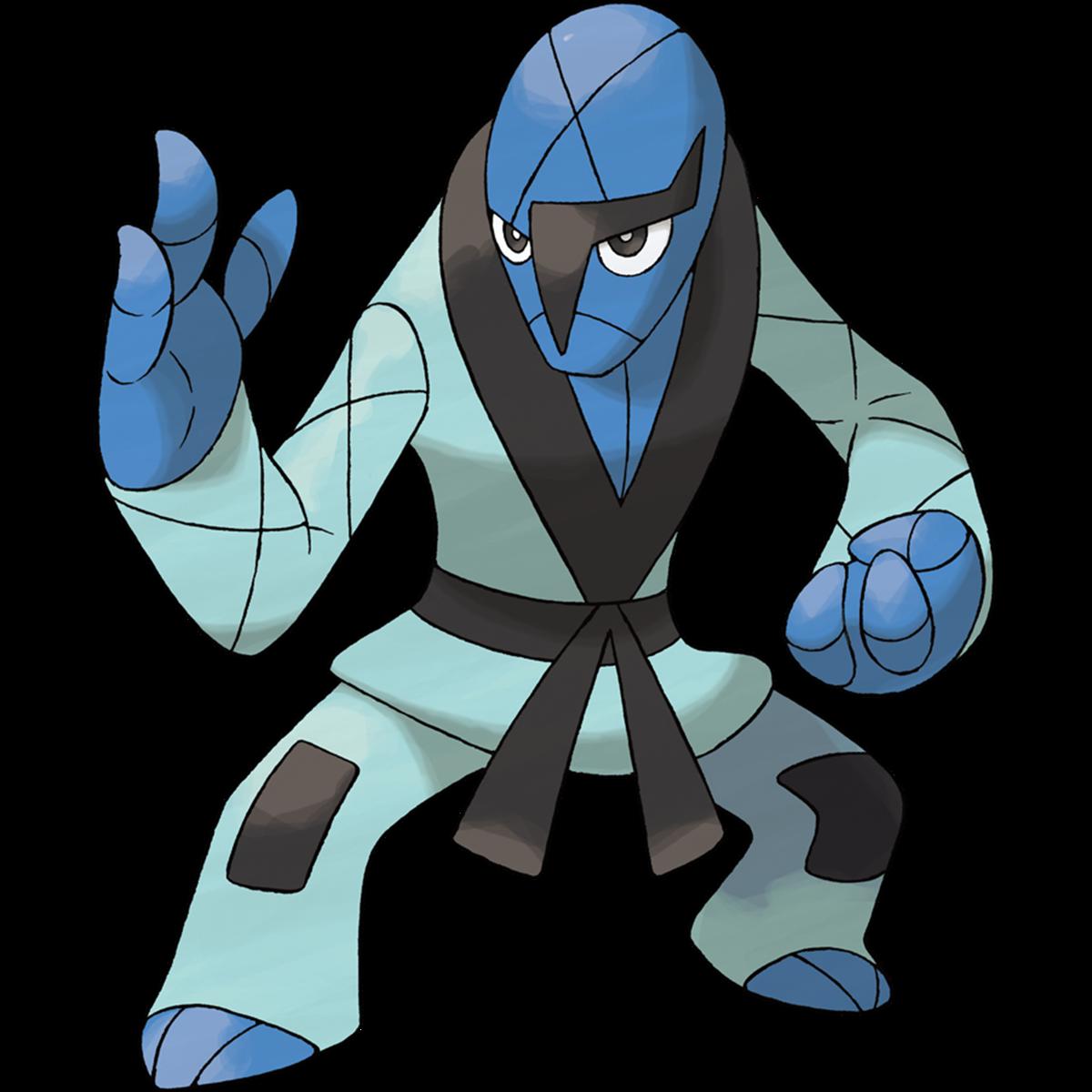 Sawk is exclusive to Pokémon Sword