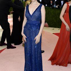 Anna Kendrick wears a Derek Lam gown.