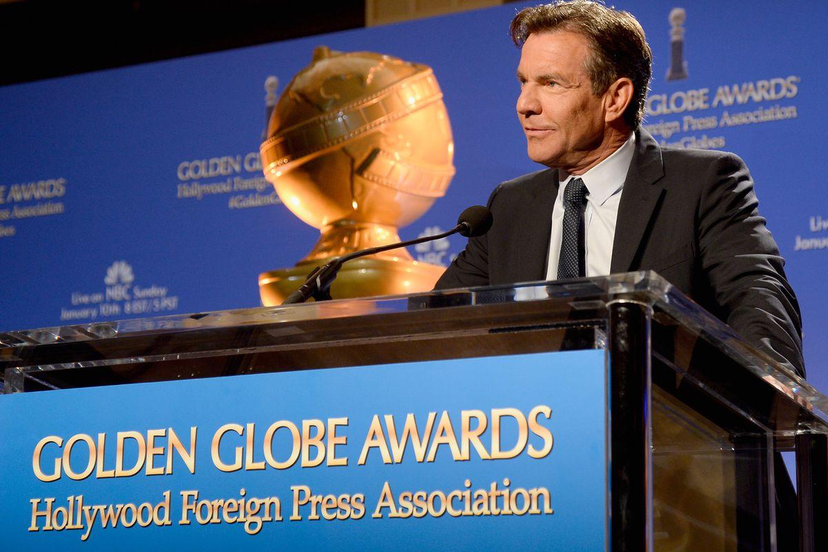 Dennis Quaid announces the 73rd annual Golden Globe nominations.