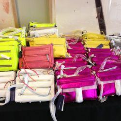 Mini M.A.C. bags, $125.