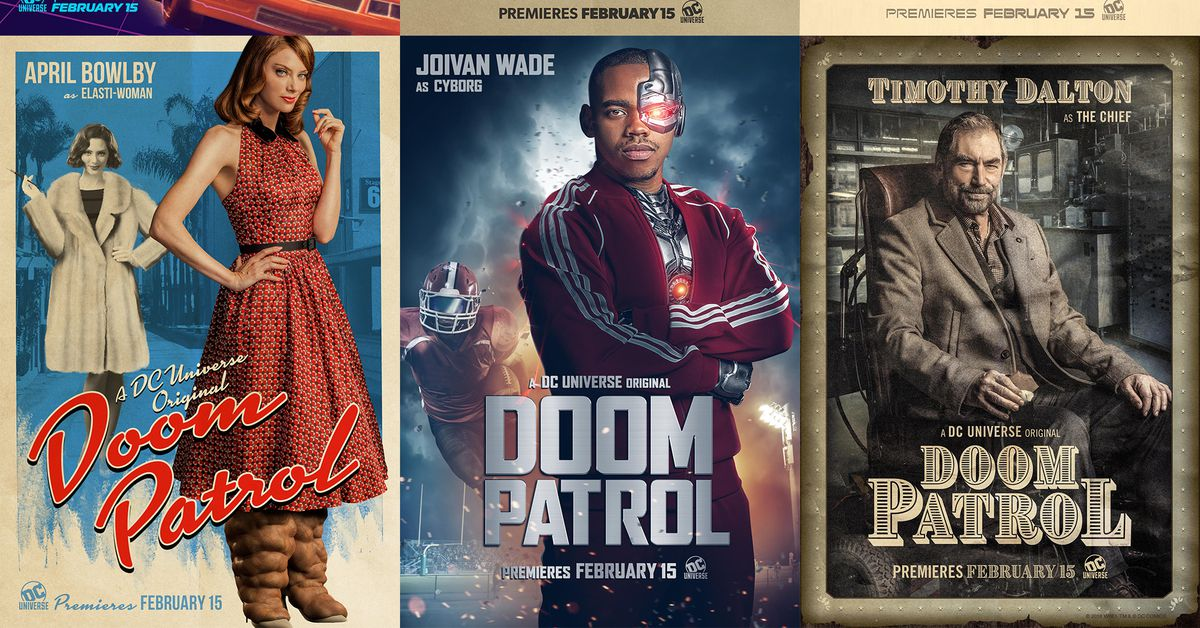 Doom Patrol S Holiday Themed Teaser Shows Off Heroes Polygon