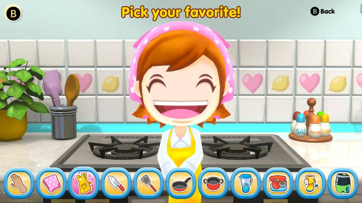Cooking Mama asks you to pick a favorite kitchen utensil