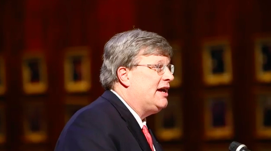 Memphis Mayor Jim Strickland presents his proposed $680 million budget to City Council on April 25, 2017.