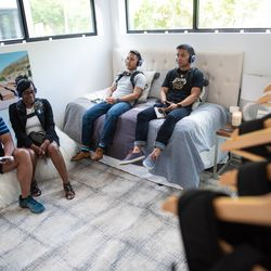 SubPac Relaxation Room: an immersive audio and wearable technology experience.