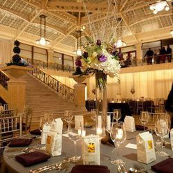"""Designed by Frank Lloyd Wright, the Light Court at <a href=""""http://therookerybuilding.com/private-events.html"""">The Rookery</a> [209 South LaSalle Street] provides a visual feast of a wedding backdrop. Initially designed as an office building by Daniel Bur"""