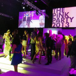 The party ended with guests transforming the runway into a dance floor.