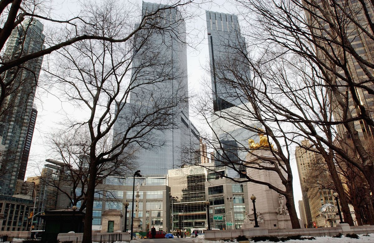 A view of the Time Warner Center mixed-use development when it opened in New York City in 2004.