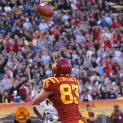 ISU's Jake Williams hauls in a touchdown.