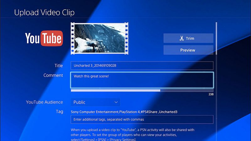 ps4 youtube