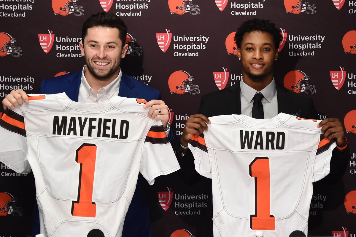 4b936ae76 Browns top rookies Baker Mayfield and Denzel Ward remain unsigned ...