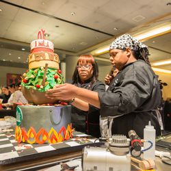 Competitors in this year's new cake competition.