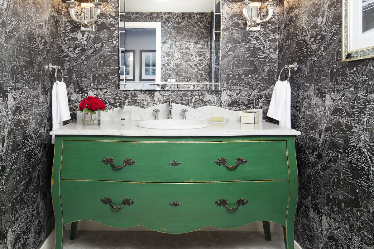 Turn A Dresser Into Bath Vanity