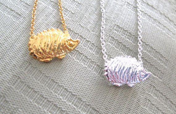 Hedgehog necklaces