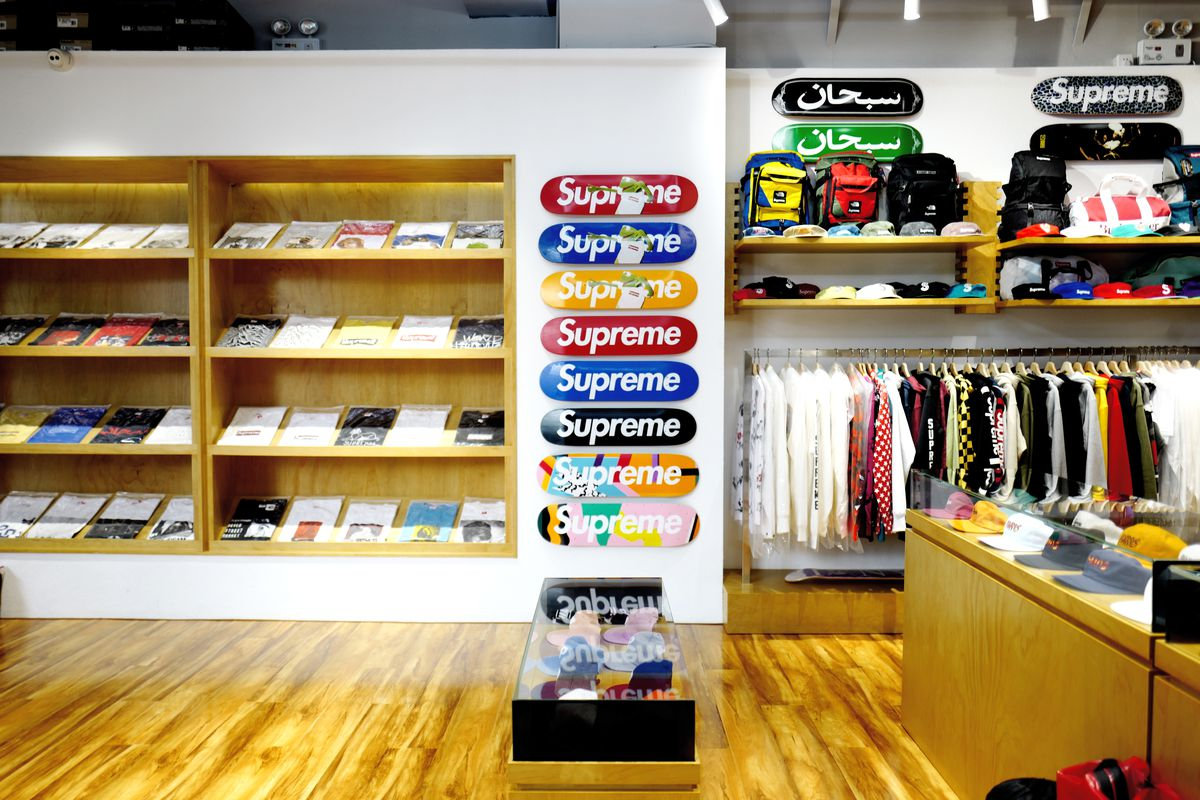 Clothing and skateboard decks at The Roots