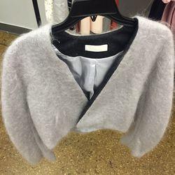 Kaelen cropped mohair jacket, $100
