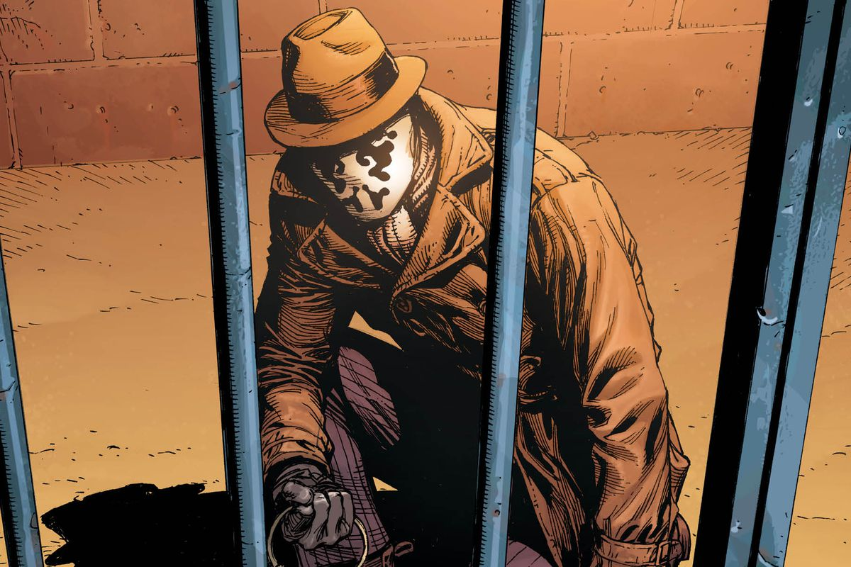 Rorschach's first DC Universe encounter is the only DC character as