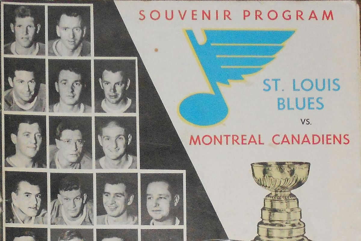 Program from the 1968 Stanley Cup playoffs (game 2) against Montreal