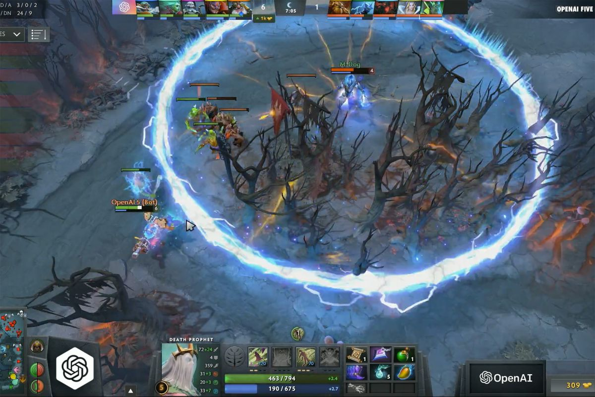 The OpenAI Dota 2 bots just defeated a team of former pros