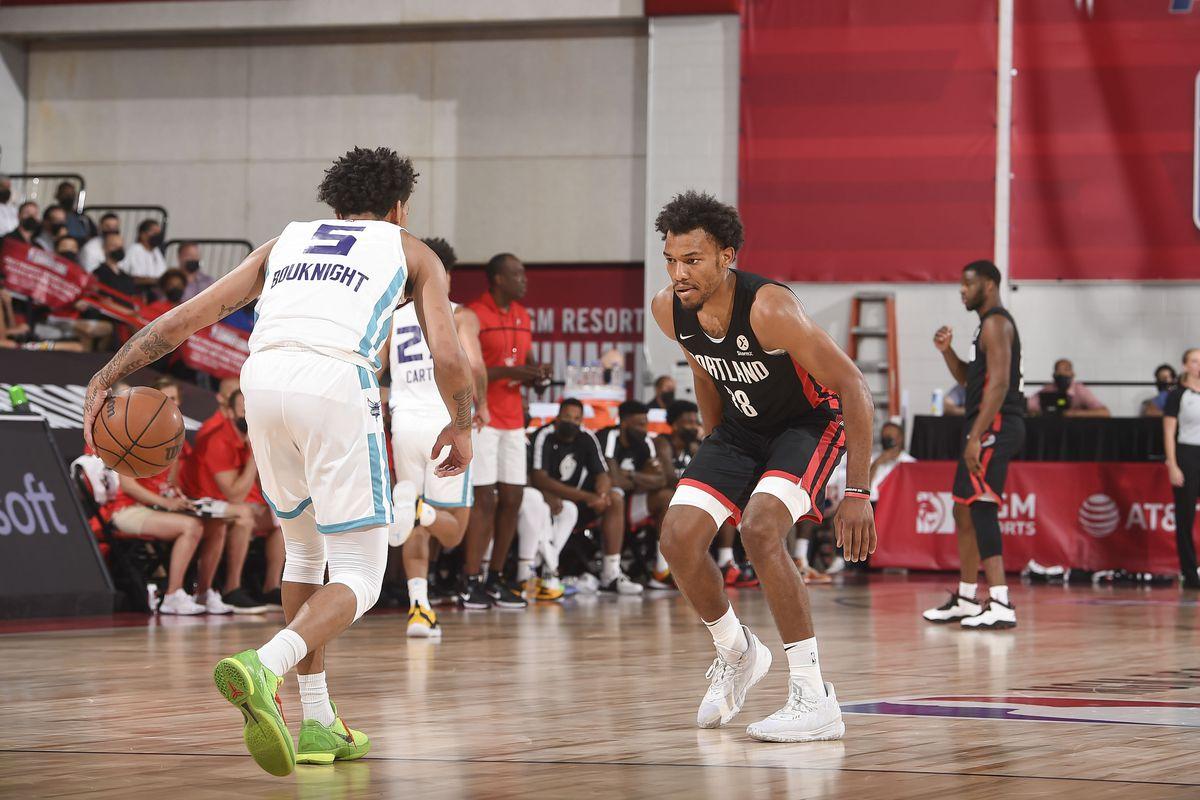 2021 Las Vegas Summer League - Portland Trail Blazers v Charlotte Hornets