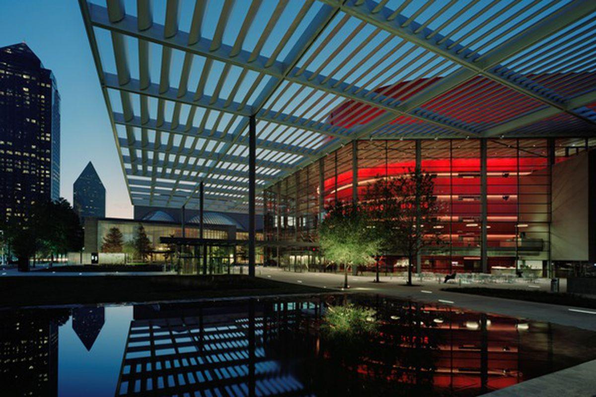Winspear Opera House in the Dallas Arts District.