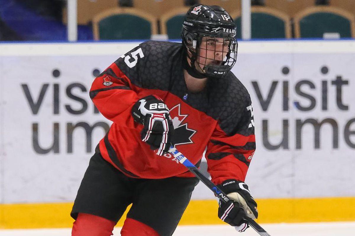 Alex Newhook Team Canada