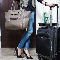 """""""I live in heels (yes, even at the airport!), but I never forget at least one pair of flats. Prepping for a Posh Party and then standing on my feet in heels for a few hours during the actual event can take its toll—and trying to mask the pain of sore feet"""