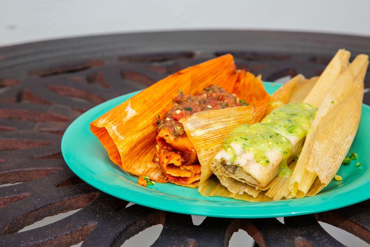 Tamales made fresh daily at El Tesoro