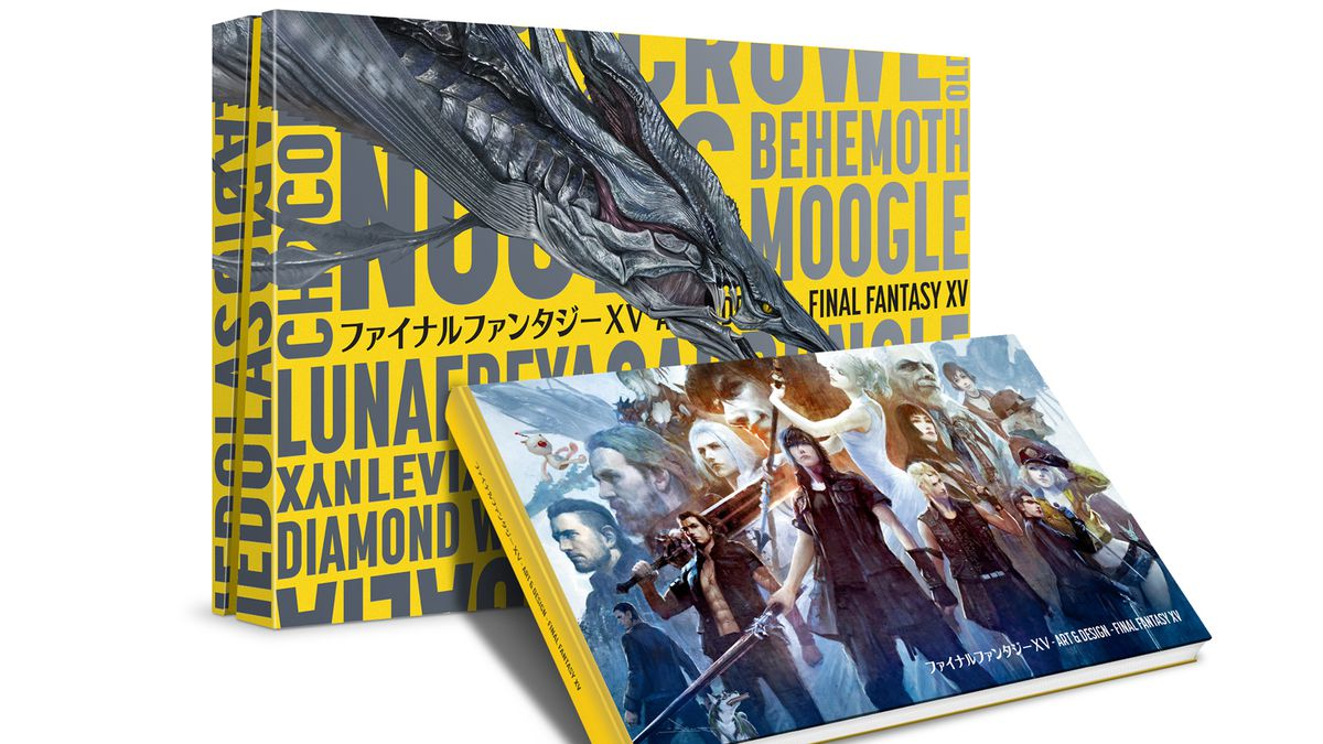 Book Cover Fantasy Xv ~ This sprawling final fantasy xv art book is too big for