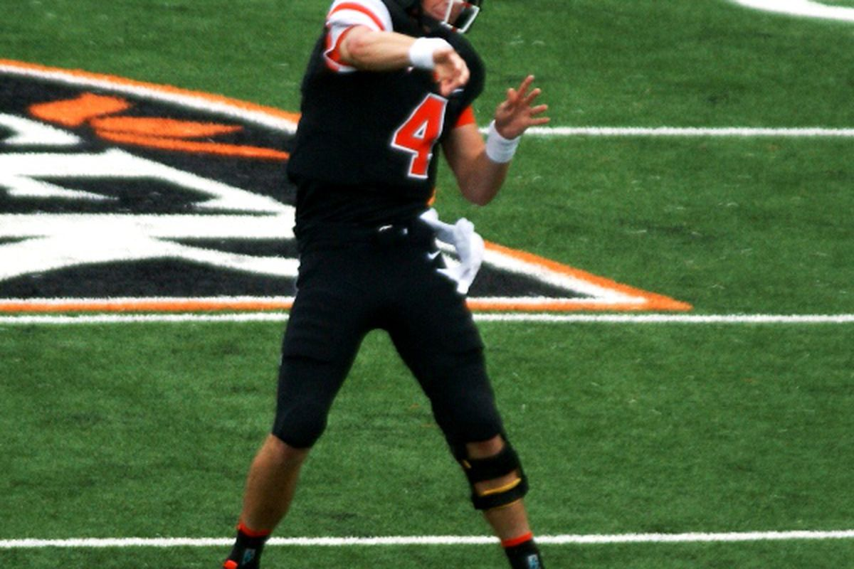 """Oregon St. quarterback Sean Mannion must regain his early season form if he and the Beavers are to shake off their """"Oregon"""" problem, and their 4 game losing streak."""