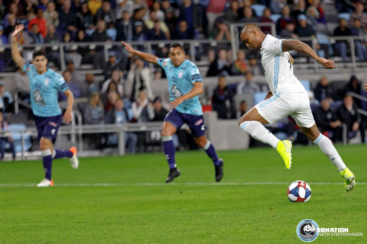 September 7, 2019 - Saint Paul, Minnesota, United States - Minnesota United forward Angelo Rodriguez (9) plays the ball during an international friendly against Pachuca at Allianz Field.