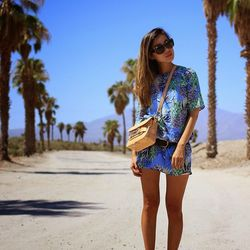 """Crystal of <a href=""""http://www.cryskay.com""""target=""""_blank"""">Cryskay</a> is wearing an <a href=""""http://us.asos.com/countryid/2/River-Island-Pineapple-Print-T-shirt-Dress/134zhg/?iid=4153526&SearchQuery=pineapple&sh=0&pge=1&pgesize=36&sort=-1&clr=Blueprint&t"""