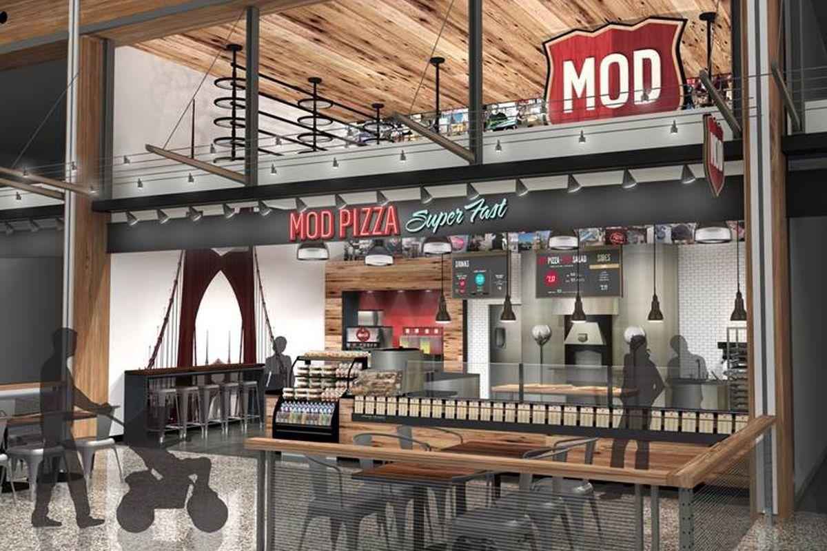 Mod Pizza Opens At Pdx Clarklewis Installs Rooftop Garden