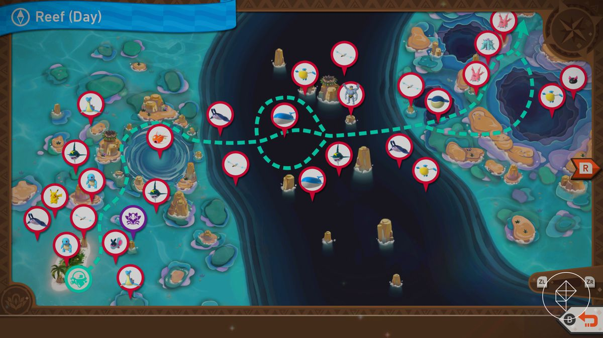 A map of Mariocopia Reef during the day