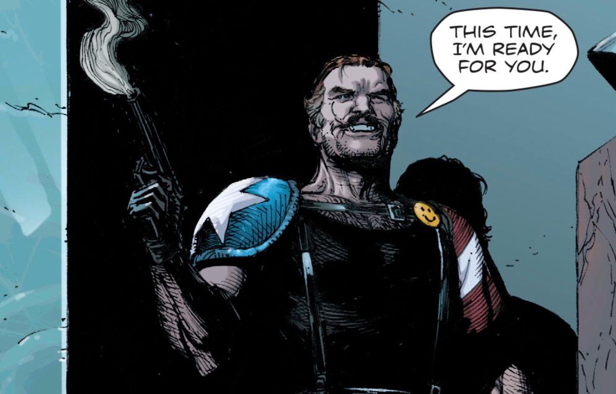 The Comedian, in Doomsday Clock #2, DC Comics, 2018.