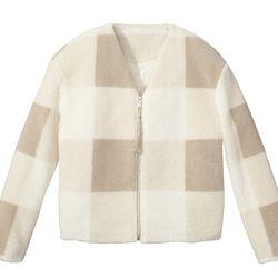 Sherpa Jacket in Oatmeal Plaid, $59.99, (XS-XXL, 1X-3X*) *Target.com Only