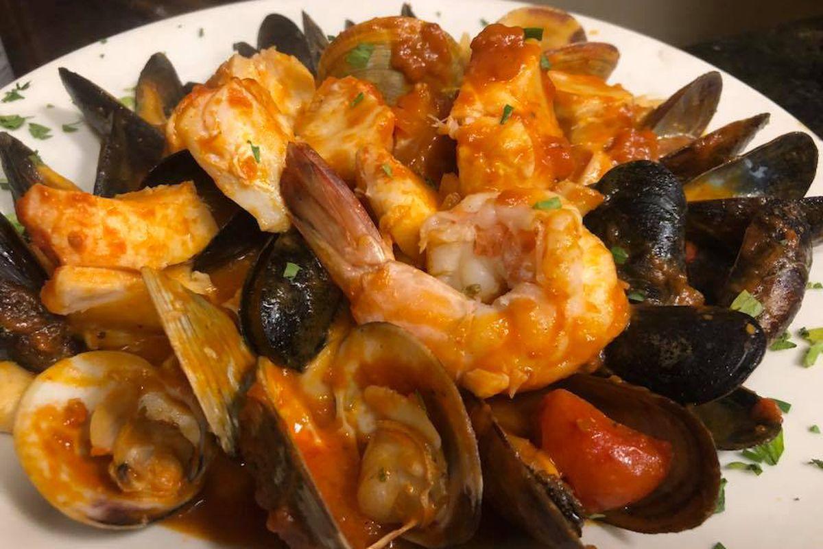 Seafood pasta special at Carlo's Cucina Italiana