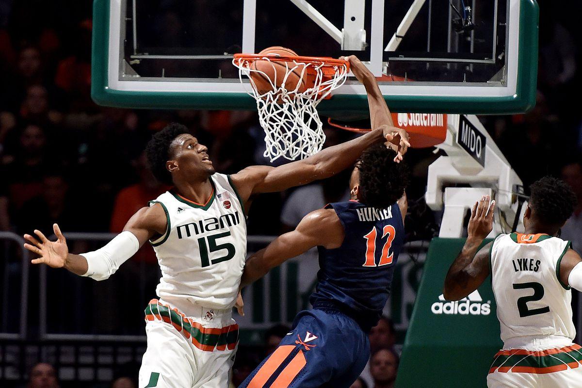 NCAA Basketball: Virginia at Miami
