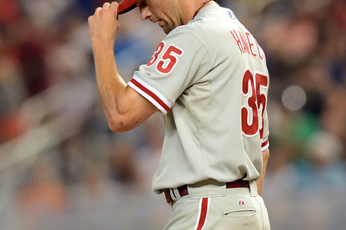 Captain Obvious says: What comes back in a Cole Hamels trade will go a long way to determining if the Phillies can bounce back in 2013. (Mandatory Credit: Steve Mitchell-US PRESSWIRE)