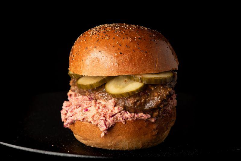 mixtape burger pink slaw pickles