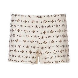 """Embroidered Shorts with Beading at Zara, <a href=""""http://www.zara.com/webapp/wcs/stores/servlet/product/us/en/zara-nam-S2013/387502/1050503/EMBROIDERED+SHORTS+WITH+BEADING"""">$79.90</a>"""