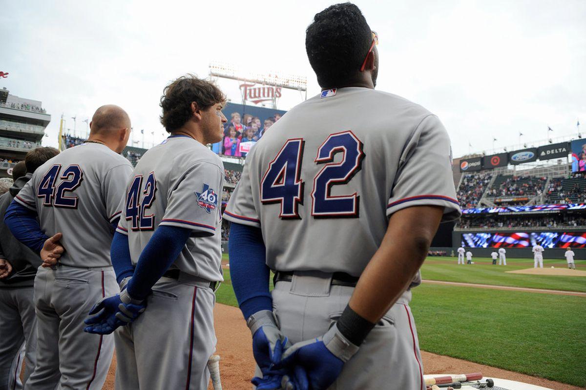 Major League Baseball players where the retired '42' to honor Jackie Robinson