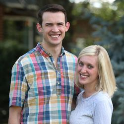 Newlyweds Jason, 27, and Emily Brand, 26, pose outside their new home July 20, 2015, in Holladay. A new study from University of Utah professor Nicholas Wolfinger shows that those who tie the knot after their early 30s are now more likely to divorce than those who marry in their late 20s.
